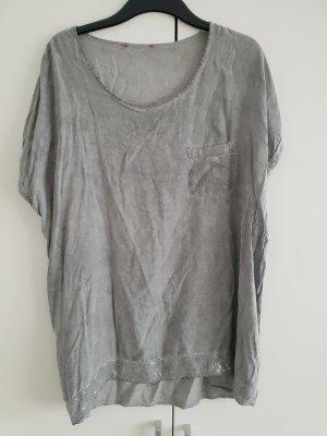 Camisa tipo túnica gris