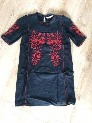 Zara Tuniekjurk rood-donkerblauw