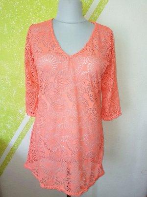 Tunique-blouse orange fluo