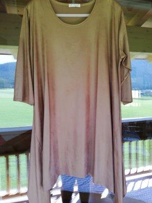 Vestido tipo túnica marrón claro