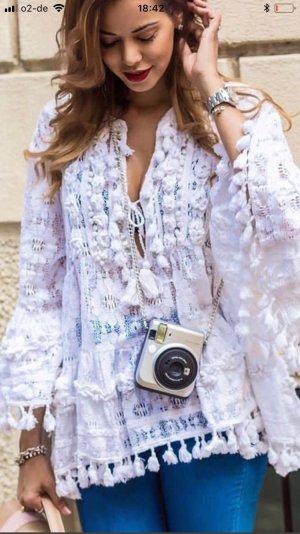 Antica Sartoria Vestido tipo túnica blanco