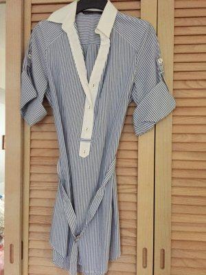 Zara Camicia blusa bianco-blu