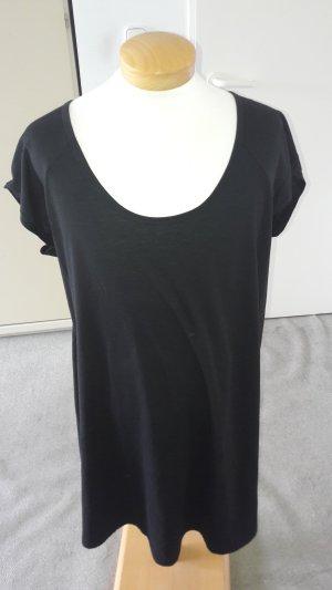 Camisa larga negro tejido mezclado