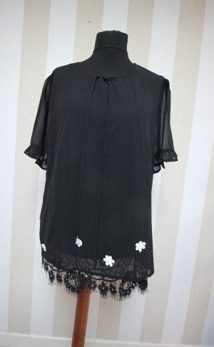 Tuniekblouse zwart-wit