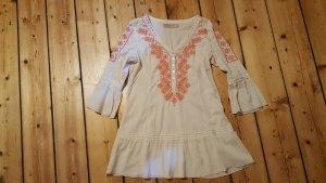 Culture Shirt Tunic natural white-raspberry-red mixture fibre