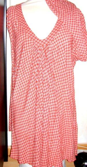 Anne L. Slip-over blouse lichtrood-wolwit Etiket verwijderd