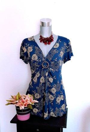 Tunika Shirt gr. 38/40 Flower Style Empire High Waist
