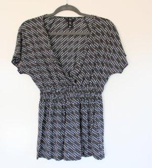 H&M Empire Waist Shirt pale blue-grey viscose