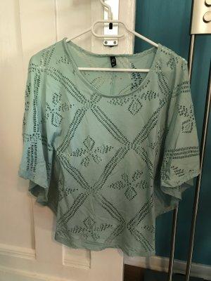Tunika Shirt mint von Ann Christine, Größe XS