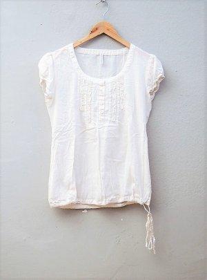 Tunika-Shirt mit Rüschen
