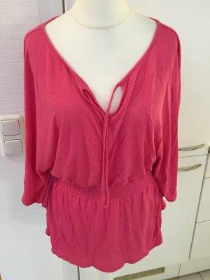 Tunika Shirt Oberteil Bluse pink locker Strand Gr. S