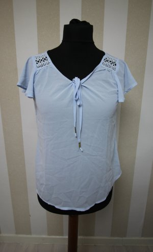 Camicia a tunica azzurro