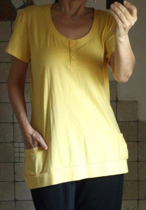Lang shirt geel
