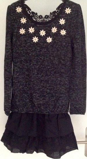 Tunika/shirtkleid Kombi mit kurz Loop Schal