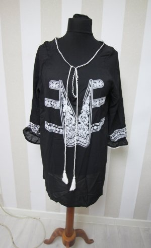 Shirt Tunic black-white