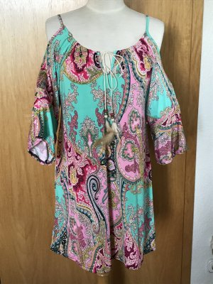 Cut Out Dress pink-turquoise