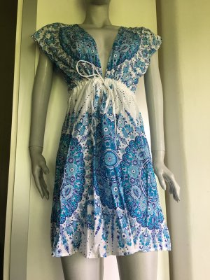 Tunika Strandkleid Cover Up Bikini Kleid musterprint Boho Hippie Festival