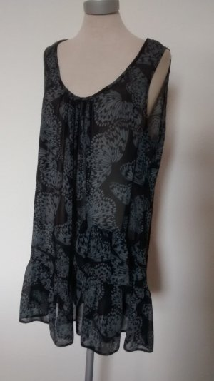 Tunika Top Oberteil Bluse Chiffon Schmetterlinge Gr. UK 18 EUR 46 XL neu