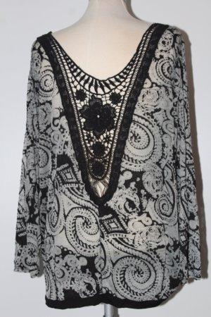 Tuniekblouse zwart-zilver