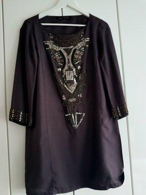 Tunika  Tunikakleid Zara Women M schwarz silber