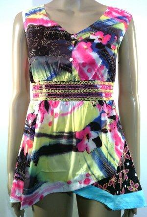 Tunique de plage multicolore coton