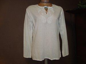 Tunika von Esprit , Weiße Tunikabluse, Hippie Boho Blogger Style Gr.36/38