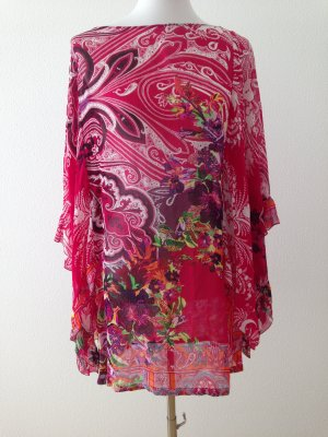 Etro Tunique de plage rouge framboise viscose