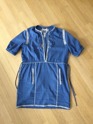 Isabel Marant Étoile Tunic Dress steel blue cotton