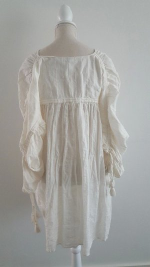 Zara Blusa ancha blanco puro