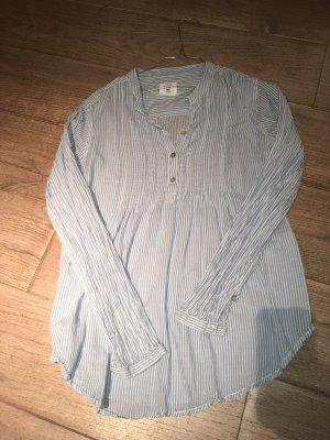 H&M Tunique-blouse blanc-bleu azur