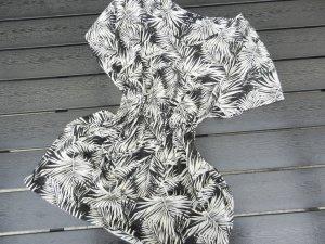Tunika - weiß-schwarz - H&M - M