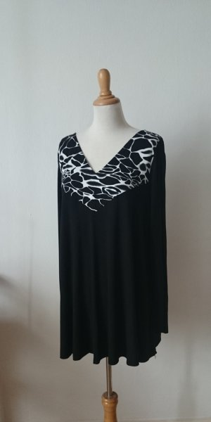 Shirt Tunic black-white viscose