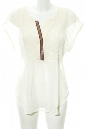 Daniel Rainn Tunic Blouse cream spot pattern beach look