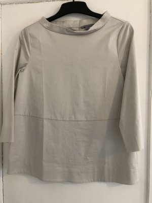 COS Tunic Blouse light grey cotton