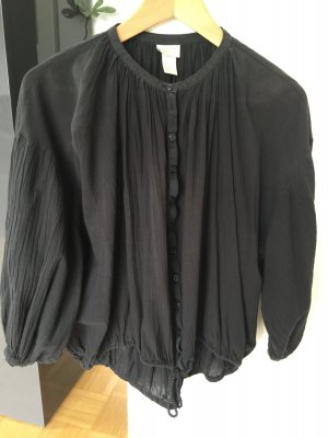 H&M Tunic Blouse black cotton