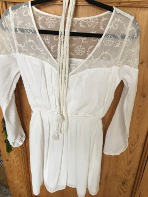 Abercrombie & Fitch Tunic Blouse cream