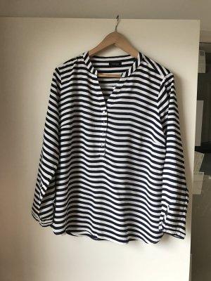 Tchibo / TCM Blusa de túnica blanco-azul oscuro
