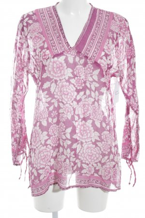 Tunikabluse pink-lila florales Muster Casual-Look