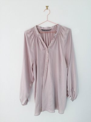 Tunikabluse / Seidenbluse von Zara | Rosé . Gr L . Longbluse