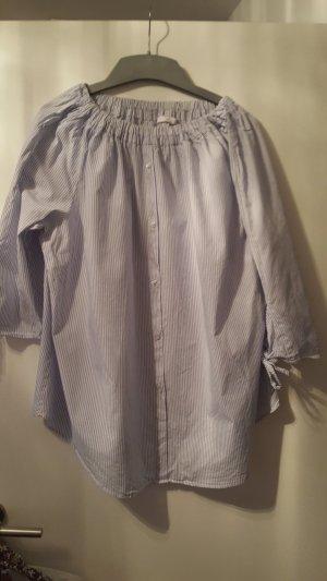 Emilia Lay Carmen blouse wit-azuur