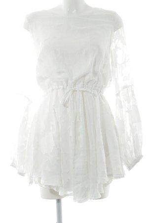 Tunikabluse weiß florales Muster Street-Fashion-Look
