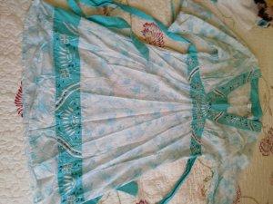 Next Robe tunique blanc-turquoise