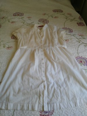 Robe tunique blanc cassé