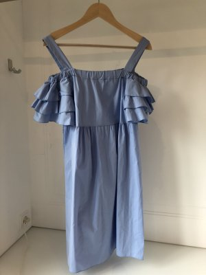 Cossie azure-cornflower blue cotton