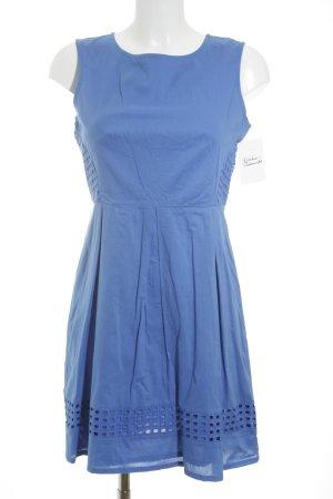 Tunikakleid blau schlichter Stil
