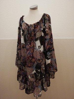 Tunikakleid Chiffon Tunika Longtop Gr. UK 16 EUR 44 XL Herbstkleid neu ethno hippie