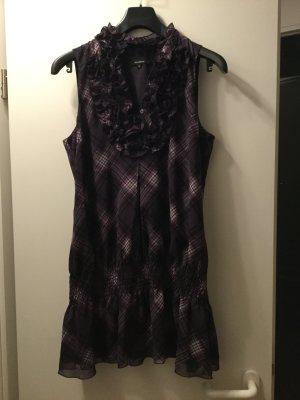 Hallhuber Vestido tipo túnica violeta-blanco