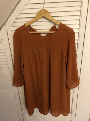 H&M Tunic Dress cognac-coloured