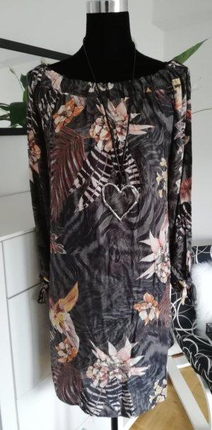 Made in Italy Vestido tipo túnica gris oscuro