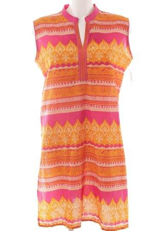 Robe tunique Mélange de motifs Look de plage